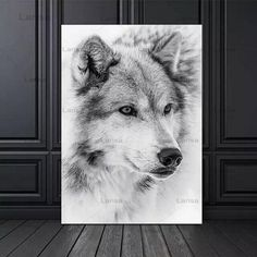 Modern Minimalism Style Black And White Cool Wolf Poster Animal Canvas Painting Prints Wall Pictures For Living Room Decor Living Room Pictures, Wall Art Pictures, Canvas Pictures, Painting Frames, Painting Prints, Canvas Paintings, Wolf Poster, Types Of Art Styles, Home Decor Wall Art