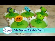 How to make Plants vs Zombies cupcakes (part 1/3) / Cupcakes de Plantas Vs Zombies parte 1 - YouTube