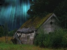 A cabana abandonada.