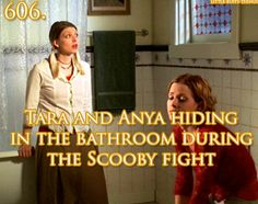 Tara and Anya in Buffy the Vampire Slayer