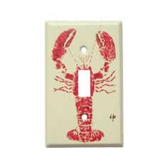 Inspired by the ancient art of fish-rubbing, this colorful light switch plate brings a marine-inspired touch to your walls. Light Switch Plates, Light Switch Covers, Coastal Decor, Diy Home Decor, Construction Materials, Fish Art, Hacks, Joss And Main, Ancient Art