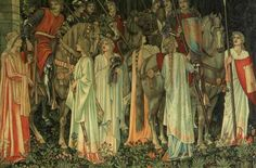 The Grail Quest Begins tapestry