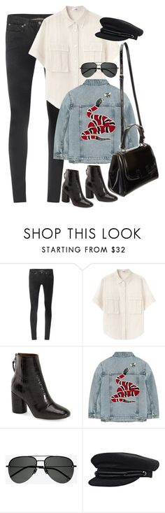 """Sem título #1542"" by oh-its-anna ❤ liked on Polyvore featuring Helmut Lang, Acne Studios, Topshop, Gucci, Fendi and Yves Saint Laurent"