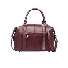 Boston style bags genuine leather women's Crossbody Bag tote Shoulder bag Designer Casual ladies Handbag