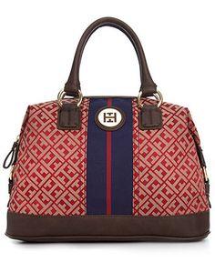 Tommy Hilfiger Handbag, Signature Jaquard Bowler - Tommy Hilfiger - Handbags & Accessories - Macy's