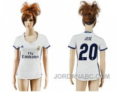 http://www.jordanabc.com/womens-real-madrid-20-jese-home-soccer-club-jersey-free-shipping.html WOMEN'S REAL MADRID #20 JESE HOME SOCCER CLUB JERSEY FREE SHIPPING Only $60.00 , Free Shipping!