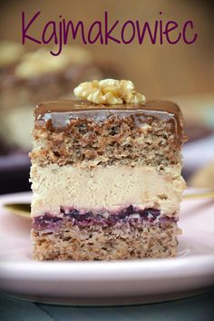 Pin by Elisabeth Pieruschka on Polnische Rezepte in 2020 Polish Desserts, Polish Recipes, Chocolate Chip Cookie Bars, Chocolate Toffee, Cookie Recipes, Dessert Recipes, Icebox Cake, Vanilla Cake, Cake Decorating