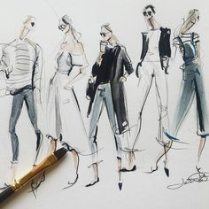 Stunning Draw a Fashionable Dress Ideas. Exhilarating Draw a Fashionable Dress Ideas. Fashion Illustration Sketches, Illustration Mode, Fashion Sketchbook, Fashion Design Portfolio, Fashion Design Sketches, Fashion Studio, Fashion Art, Fashion 2018, Fashion Figures
