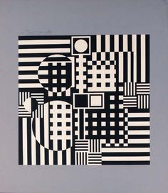 Abstract Composition in Grey, Victor Vasarely