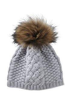 Gorsuch | Gstaad knit hat in silver merino wool