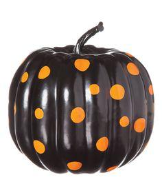 Fun polka dot pumpkin!