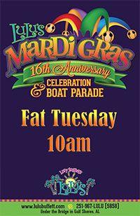 LuLu's Fat Tuesday Anniversary Celebration & Boat Parade February 9, 2016