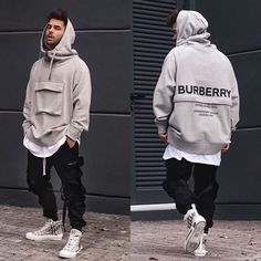 Stylish Mens Outfits, Cool Outfits, Casual Outfits, Style Masculin, Stylish Hoodies, Herren Outfit, Mens Clothing Styles, Streetwear Fashion, Pocket Detail