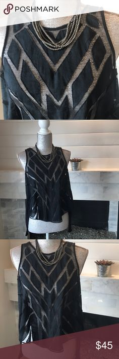 """Free People Top - Worn Once! Peekaboo cut put Design.  Measurements laid flat:  23.5 at the longest part in the front.  26"""" at the longest point in the back.  Underarms - 18"""".Has real buttons in the back but you can just slip it over your head!  Unique & flattering! Free People Tops"""