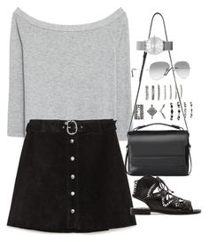 """""""Sin título #5393"""" by marianaxmadriz ❤ liked on Polyvore featuring Zara, AllSaints, Forever 21, Ray-Ban and Dolce Vita"""