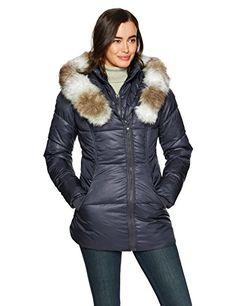 Keaac Womens Pea Coat Hooded Drawstring Boyfriend Trends Two Piece Jacket
