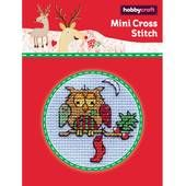 Mini Cross Stitch Kit Patchwork Owl 64 x 64 mm