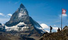 The Matterhorn….NOT the highest mountain in Switzerland – Zermatterhorn Fabric Wall Art, Central Europe, Garden Boxes, Easy Install, Alps, National Geographic, Wall Murals, Switzerland, Canvas Wall Art