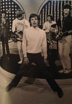 The Rolling Stones, Mick Jagger, Keith Richards, Brian Jones, Charlie Watts, Bill Wyman. La formación original!