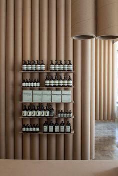 Aesop shops are always cool, and always different. Aesop DTLA by Brooks + Scarpa Architects, via Behance