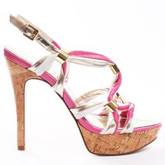 Knotted - Pink Multi Leather Guess Shoes