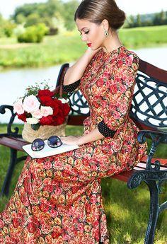 Ulyana Sergeenko Yana Fisti ~ Ulyana Sergeenko dress & sunglasses