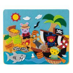 Puzzle con piezas de tela de piratas para niños | Imaginarium