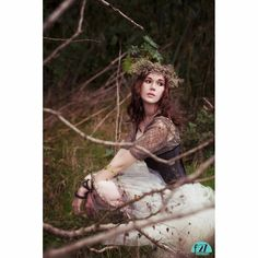 This forest nymph finds beauty even in the death of winter.  Stylized fashion shoot in Ventura, Southern California