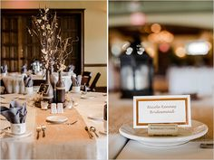 shabby chic reception with cork place settings