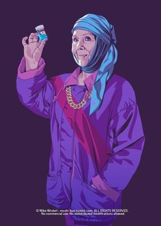 "Olenna Tyrell. | 28 ""Game Of Thrones"" Characters Transported To The '80s And '90s"