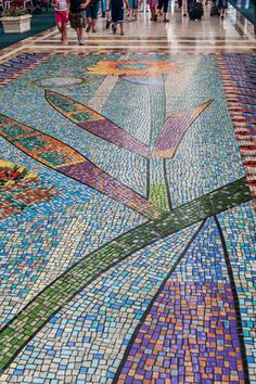 Caution-looking down when walking is risky. So, we put pictures of floor mosaics online. Enjoy