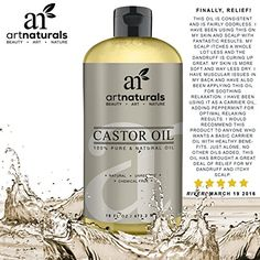 Our natural Castor oil is 100% pure, unrefined, and cold-pressed straight from the fields of Jamaica. Our Castor oil is the ideal aid for a host of common conditions including dry scalp, dandruff, and psoriasis all while promoting healthy and full hair growth. Simply massage warm Castor oil into hair and scalp to improve blood circulation, reduce split ends, and moisturize damaged, dry hair. Castor oil is also an ideal natural aid for arthritis, sore joints, and muscle pain and is perfect fo... Simply Massage, Good Massage, Massage Oil, Best Volumizing Hair Products, Pure Castor Oil, Improve Blood Circulation, Full Hair, Dry Scalp, Split Ends