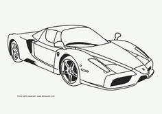 Cool cars - coloring pages online for kids Ferrari Race Car Coloring Pages, Online Coloring Pages, Coloring Pages To Print, Free Coloring Pages, Coloring Books, Monster Truck Coloring Pages, Printable Coloring, Coloring Sheets, Coloring Pages For Teenagers