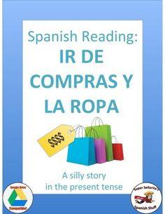 Silly story to practice vocab: caro, barato, la ropa, van de compras, la talla, el número