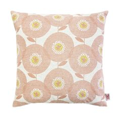 Screen printed design by Skinny laMinx. Available in two fabulous colourways - Penny Black and Posy Pink, and two sizes - and Cotton linen blend. Cushion Covers, Pillow Covers, Penny Black, Pink Flowers, Printing On Fabric, Print Patterns, Screen Printing, Fields, Throw Pillows
