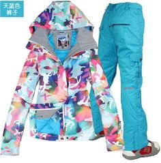 2014 womens ski suit ladies snowboarding suit camouflage ski jacket and blue pants waterproof 10K top quality free ship by EMS-in Snowboarding Jackets from Sports & Entertainment on Aliexpress.com | Alibaba Group
