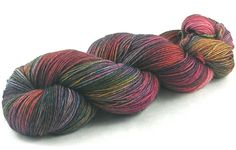 """Kinfolk Yarn and Fibre Steadfast Sock in the """"Wild Child"""" colour way before re-skeining."""