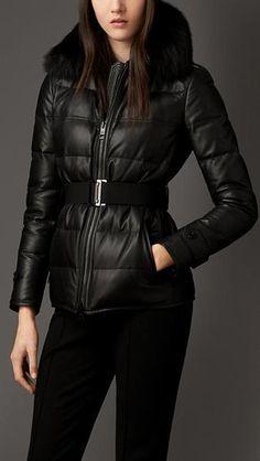 Пальто из кожи ягненка