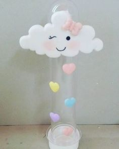 lembrancinha chuva de amor tubete Felt Crafts, Diy And Crafts, Cloud Party, Baby Shawer, Giant Paper Flowers, Ideas Para Fiestas, Unicorn Party, Baby Birthday, Baby Shower Themes