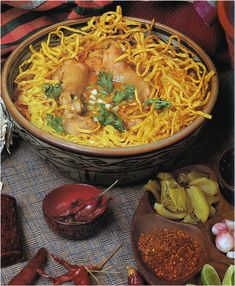 Northern Thai Chicken Curry served over Chinese Egg Noodles - Khao Soi  ข้าวซอย