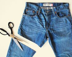 DIY denim shorts (I wasn't aware this was a fashion secret)