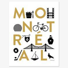Affiche Montréal - or