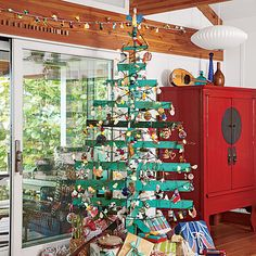 Jack Johnson's Christmas - Coastal Living - reclaimed Christmas Tree