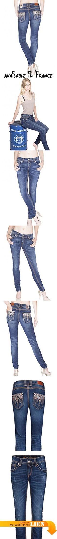 B06XC3DHBB : Blue Monkey Jeans - Jeans - Skinny - Uni - Femme - bleu - W25.
