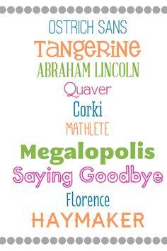 Top Fonts #fonts