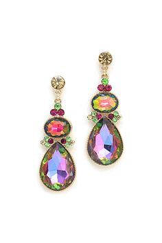 Crystal Dinah Earrings in Vitrail