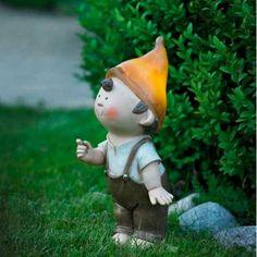 Solar LED Garden Gnome - Baby