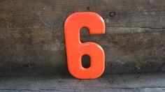 Vintage Metal Chippy Sign Number 6 or 9 Sign by TheOldTimeJunkShop, $15.00