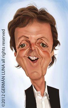 Caricatura de Paul McCartney