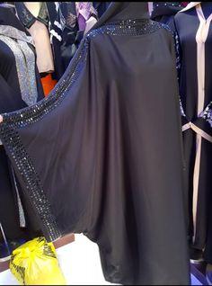 available here DM for order Niqab Fashion, Modern Hijab Fashion, Fashion Wear, Modest Fashion, Boho Fashion, Fashion Dresses, New Abaya Style, Hijab Style Dress, Abaya Designs